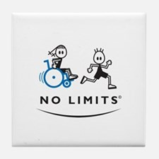Girl with running Boy Tile Coaster