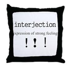 INTERJECTION Throw Pillow