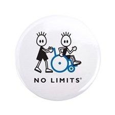 """Boy Pushes Disabled Boy 3.5"""" Button"""