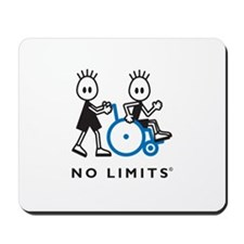 Boy Pushes Disabled Boy Mousepad