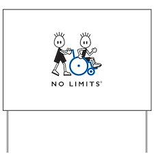 Boy Pushes Disabled Boy Yard Sign