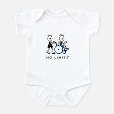 Boy Pushes Disabled Boy Infant Bodysuit