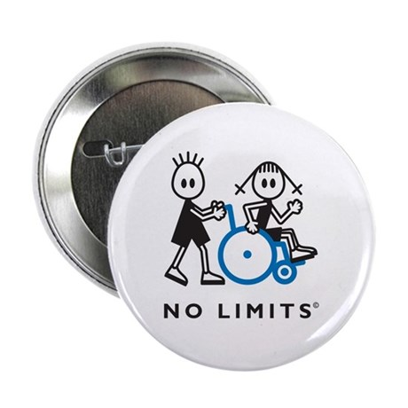 """Boy Pushes Disabled Girl 2.25"""" Button (10 pack)"""