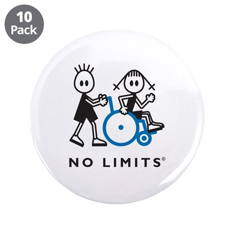 "Boy Pushes Disabled Girl 3.5"" Button (10 pack)"