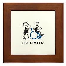 Girl Pushes Disabled Boy Framed Tile