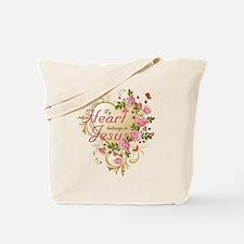 Heart belongs to Jesus Tote Bag