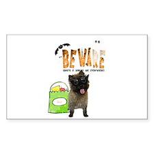 Cairn Terrier Halloween Rectangle Decal