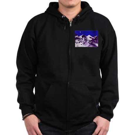 Birth of an Angel Zip Hoodie (dark)