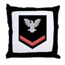 Petty Officer Third Class Red Throw Pillow