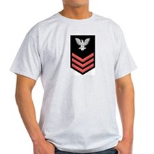 Petty Officer First Class Red Ash Grey T-Shirt