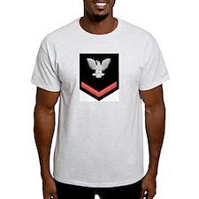 Petty Officer Third Class Red Ash Grey T-Shirt