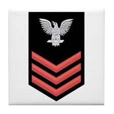 Petty Officer First Class Red Tile Coaster