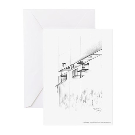Fire Escape Greeting Cards (Pk of 20)