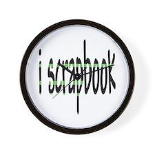 I Scrapbook Wall Clock
