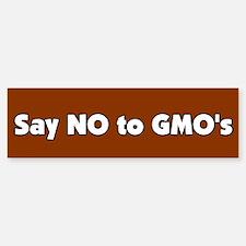 No to GMO's bumper sticker