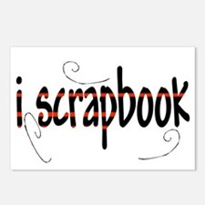 I Scrapbook Postcards (Package of 8)