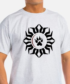 Wolf Track and Moon T-Shirt