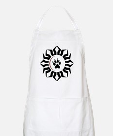 Wolf Track and Moon BBQ Apron