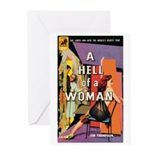 "Greeting (10)-""A Hell of a Woman"""