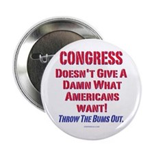 "Congress Doesn't Give A Damn 2.25"" Button"