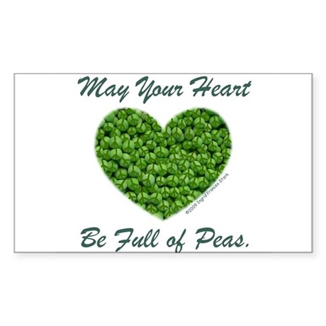 Peasful Heart Rectangle Sticker