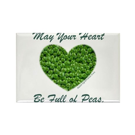 Peasful Heart Rectangle Magnet