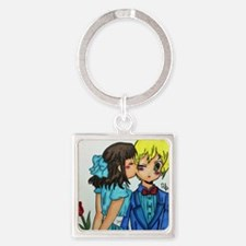Cute Anime Square Keychain