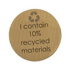 "Recycled Materials 3.5"" Button"