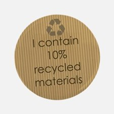 """Recycled Materials 3.5"""" Button"""