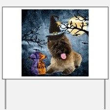 Cairn Terrier Witch Yard Sign