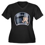 Mini Driver Women's Plus Size V-Neck Dark T-Shirt