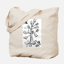 Critter Book Tree Tote Bag