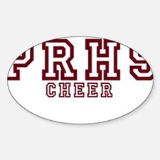 PRHS cheer (1) Oval Decal