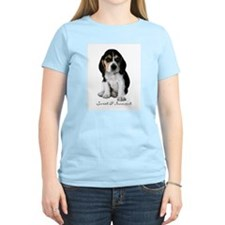 Beagle Puppy Dog Women's Pink T-Shirt