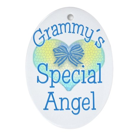 Grammy's Special Angel Oval Ornament