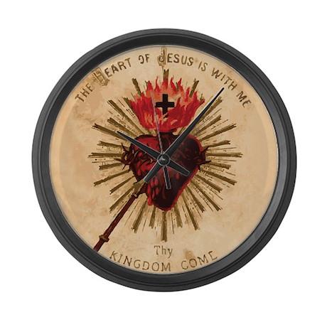 Sacred Heart of Jesus Large Wall Clock