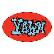 Yawn Oval Decal