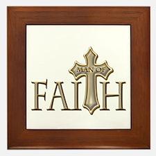 Man of Faith Framed Tile