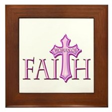 Woman of Faith Framed Tile