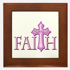 Woman of Faith Framed Tile