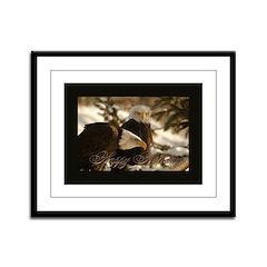Happy Holidays (Eagles) Framed Panel Print