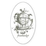 Freethinker Oval Sticker (10 pk)