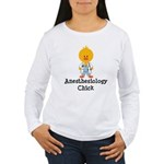 Anesthesiology Chick Women's Long Sleeve T-Shirt