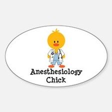 Anesthesiology Chick Oval Decal
