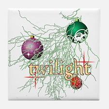 Twilight Christmas Tile Coaster