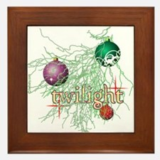 Twilight Christmas Framed Tile