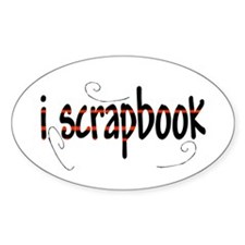 I Scrapbook Oval Decal