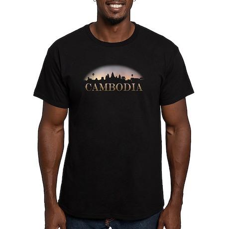 Cambodia Men's Fitted T-Shirt (dark)