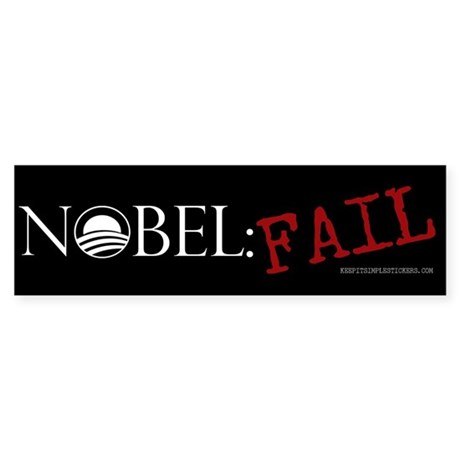 Nobel: Fail - Anti Obama Bump Bumper Sticker