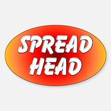 Spread Head Oval Decal